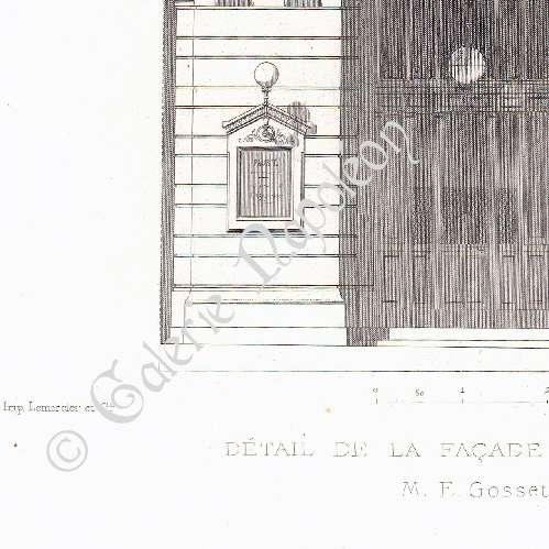 gravures anciennes gravure de th tre de reims fa ade architecte m gosset france. Black Bedroom Furniture Sets. Home Design Ideas