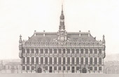 City Hall of Valenciennes - Nord-Pas-de-Calais - Facade - Architect M. Batigny (France)