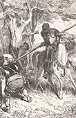 Don Quixote by Gustave Dor� - Chapter IV - Of what happened to our knight when he left the inn 1/2