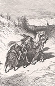 Don Quixote by Gustave Dor� - Chapter V - In which the narrative of our knight's mishap is continued 2/2