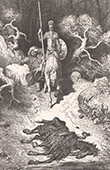 Don Quixote by Gustave Dor� - Chapter XXIII - What befell Don Quixote in the Sierra Morena 5/5