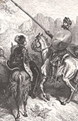 Don Quixote by Gustave Doré - Chapter XXIX - Method adopted to extricate Don Quijote from his severe penance 3/4