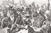 Don Quichotte par Gustave Dor� - Chapitre LII - Querelle entre Don Quichotte et le Chevrier, et la surprenante aventure des P�nitents blancs 1/2