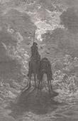 Don Quichotte par Gustave Dor� - Chapitre IV - Sancho Panza r�pond aux questions du bachelier Samson Carrasco
