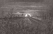 Don Quichotte par Gustave Dor� - Chapitre VIII - Ce qui arriva � Don Quichotte tandis qu�il allait voir sa dame Dulcin�e du Toboso
