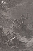 Don Quixote by Gustave Dor� - Chapter XII - Adventure which befell the valiant Don Quijote with the bold knight of the Mirrors