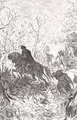 Don Quichotte par Gustave Dor� - Chapitre XVII - Don Quichotte dans l�heureuse fin qu�il donna � l�aventure des Lions
