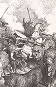 Don Quixote by Gustave Dor� - Chapter LVIII - How adventures came crowding on Don Quijote in such numbers 2/2
