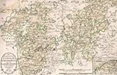 Karte - Belgien - Sambre - Maas - Meuse - Namur - Dinant - Luxemburg - Das Hochstifts L�ttich S�dlichertheil oder das LandKondroz