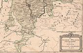 Karte - Bistum W�rzburg S�dliche Aemter mit den Herrschaften Speckfeld und Reichelsberg - Franken - Bayern (Deutschland)