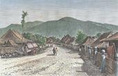 Tjimatjan n�stan Tjandjoer (Indonesien)