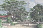 Sikte av Batavia - Jakarta - Nederl�ndska Indien (Indonesien)
