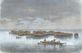Pfahlbauten - Tupuselei - Motu - Papúa (Neuguinea)