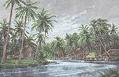 Holl�ndische Borneo - Amandit Fluss in Kendangan (Indonesischer Archipel)