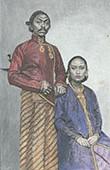 Portr�t von Kaiser und Kaiserin in Surakarta - Java (Indonesien)