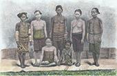 Borneo -  Dayak Frauen - Ethnische Gruppe (Indonesischer Archipel)