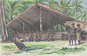 Solomon Islands - Oceania - Tambou Shack - Natives of Santa-Ana
