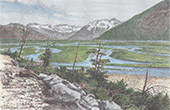 Landschaft von Neuseeland - Waimakariri River
