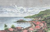 Sikte av Levuka - Ovalau (Fiji)
