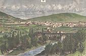 Vue de Privas - Auvergne-Rh�ne-Alpes - Ard�che (France)