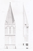 Steeple - Notre-Dame-d'Auteuil Church in Paris (France)
