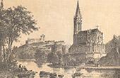 View of Lourdes - Basilica - Castle - Languedoc-Roussillon-Midi-Pyrénées - Hautes-Pyrénées (France)