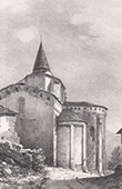 Vue de Saint-Savin - L'Eglise - Midi-Pyr�n�es - Hautes-Pyr�n�es (France)