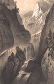 View of Pyr�n�es - Eaux-Chaudes - Hourat Canyon - Pyr�n�es-Atlantiques (France)