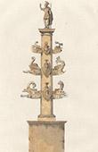 Colonna rostrata de Duilius - F�rum Romano - Forum Romanum (Italia Antiga)