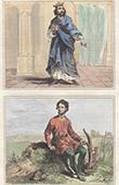 Portr�t von Dagobert Ier (602-638) - Kost�m - Kleidung Bauer - VII. Jahrhundert