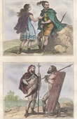 Gaul  - Franks Warrior and Woman - Germanic warriors - Vth Century