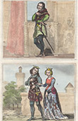 Portraits - Knight - Order of the Broom-cod - Orders of France - Beatrix of Burgundy - Philip of Evreux