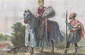 Portraits - Knight Costume - XIIIth Century - Aimery de Guillaume Berard - Order of the Star