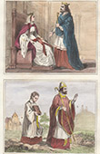 Portr�ten - Tracht - VI. Jahrhundert - Chlothar I. (498-561) - Radegundis (520-587) - Bischof - Priester