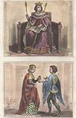 Portr�t - Tracht - XIII. Jahrhundert - Ludwig IX von Frankreich - Alix von Bretagne - Guillaume de Lorris