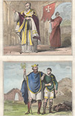 English Costume - English Fashion - Archbishop - Saxon Prince - England (10th Century - Xth Century)