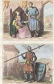 Portr�ten - Tracht - XIII. Jahrhundert - England - Sir Hugh Bardolf - Alberic III Graf von Oxford - Gr�fin von Oxford