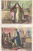 Portr�t - Tracht - XIV. Jahrhundert - England - Eduard III. - Joan of Kent