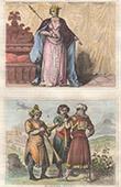 Portr�t - Tracht - XIV. Jahrhundert - England - Philippa von Hennegau - Trompeten - Herrschaft von Richard II von England