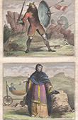 Costume - Anglo-Saxon warrior -  Anglo-Saxon woman - Roman Britain