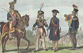 Military costumes - Military Uniform - XIXth Century - England