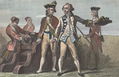 Military costumes under the Reign of George II of Great Britain - XVIIIth Century