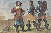 Military costumes under Cromwell - XVIIth Century