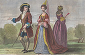 Costumes under the Reign of William III of England - XVIIth Century