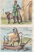 Kost�m  - XV. Jahrhundert - England - Herrschaft von Eduard IV. - W�chter - Schiff