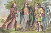 Costumes of Men under the Reign of Henry VII of England - XVIth Century