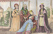Costumes of women Under the Reign of Henry VII of England - XVIth Century