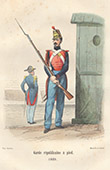 French Army - Military Uniform - Republican Guard's Infantry (1849)