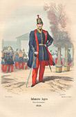 Ex�rcito Franc�s - Traje Militar - Infantaria ligeira (1850)