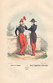 French Army - Military Uniform - Officers - Military Academy at Saumur - �cole d'application du Corps royal d'�tat-major (1848)